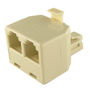 RJ11 4-pin 1 Male to 2 Female Telephone Splitter Connector Adapt