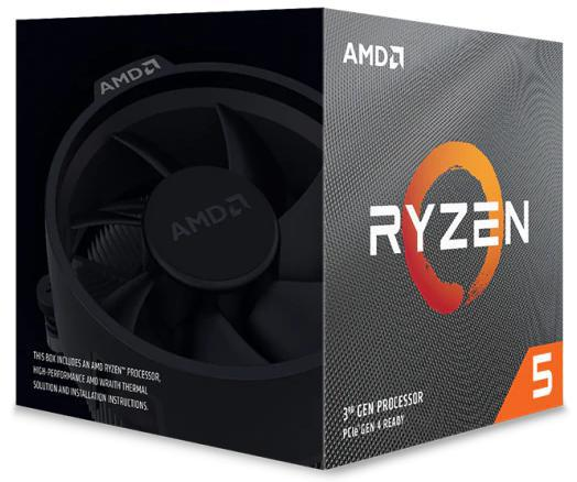 AMD Ryzen 5 3600XT, 6 Core AM4 CPU, Max 4.5GHz 35MB 95W w/Wraith Spire Cooler Fan (discrete graphics required)