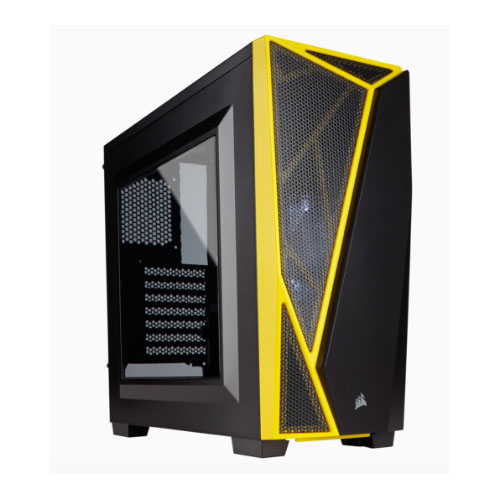 Corsair Carbide SPEC-04 Mid-Tower Gaming Case, Black & Yellow, N