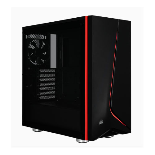 Corsair Carbide Series SPEC-06 Black with Red trim tempered glas