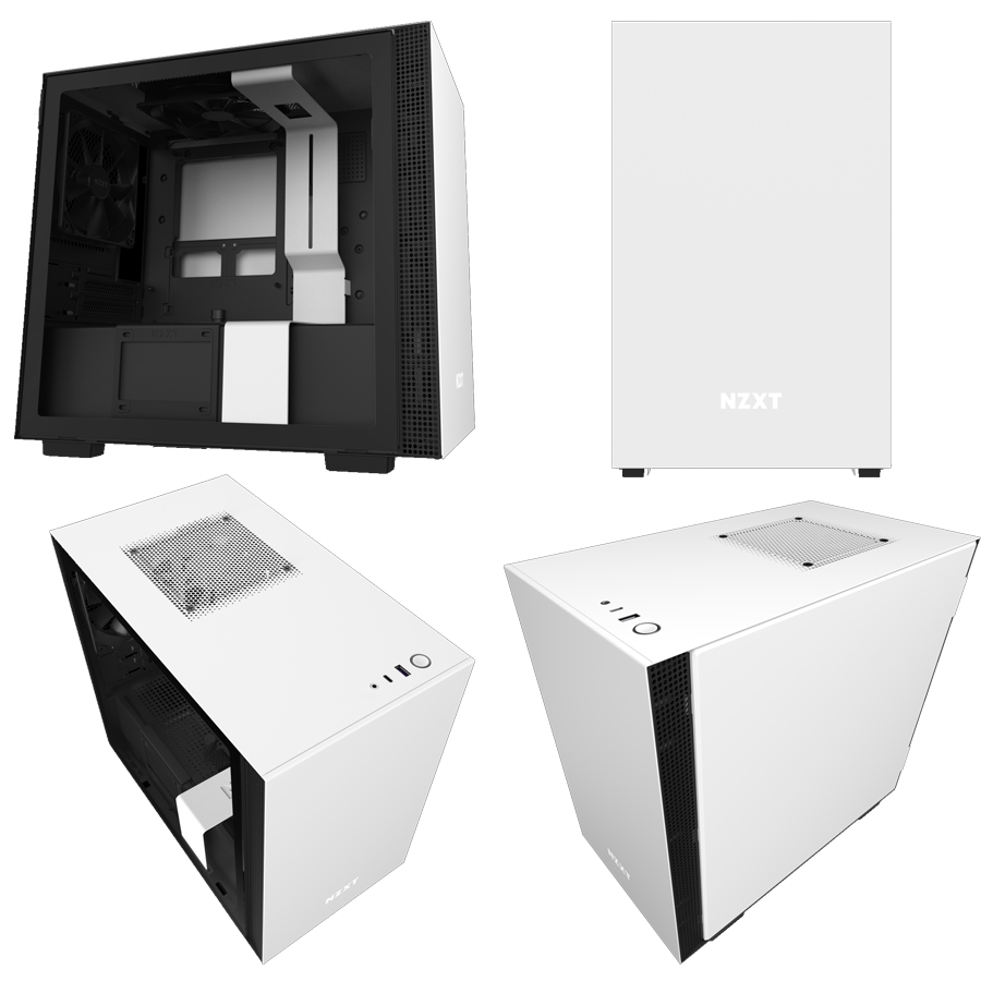 NZXT Matte White & Black H210i Mini Tower Chassis (Smart Device