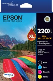 EPSON 220XL Value Pack 4x High Capacity Ink Cartridges