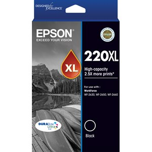 EPSON 220XL HIGH CAPACITY BLACK INK TP - EPSON WORKFORCE WF-2630