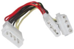 2x Hard Drive Power Splitter Internal Cable