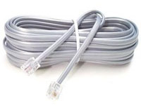 RJ11 - RJ11 Line Cord 2m - 4 conductor fitted with 6P4C Modular
