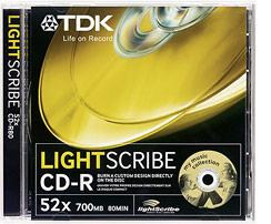 TDK CD-R 80 LightScribe 10 Pack in Jewel Case
