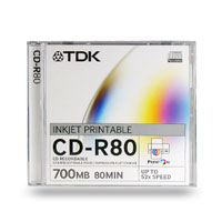 TDK 80Min CDR Media 10 Pack Jewel Case