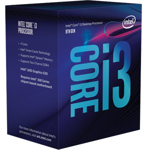 INTEL CORE i3 8100 Processor (Coffee Lake)- 3.60GHz - 6MB Cache