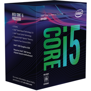 INTEL CORE i5 8400 Processor (Coffeelake)- 6 Cores, 3.10 GHz Tur