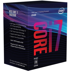 INTEL CORE i7 8700 Processor (Coffeelake)- 6 Cores 3.20GHz - 12M