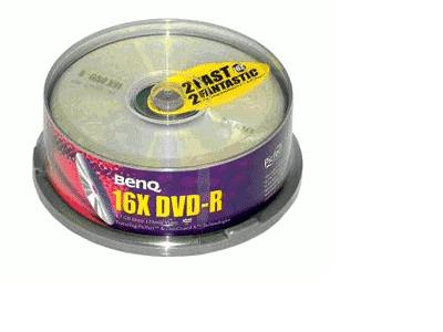 DVD+R 4.7GB Media 25 pcs. Spindle