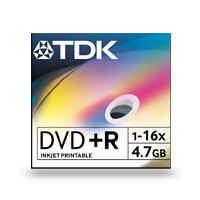 TDK DVD+R 4.7GB 16x DVD 50 Spindle Recordable