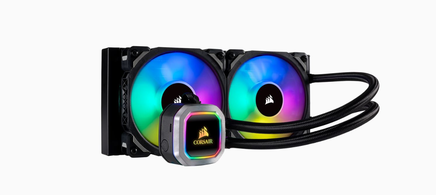 Corsair Hydro Series H100i 240mm RGB PLATINUM Liquid CPU Cooler.