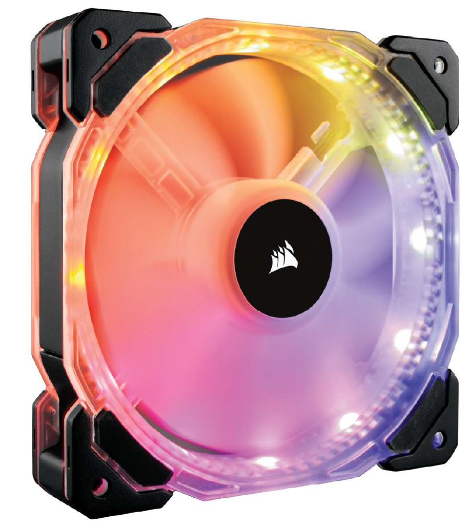 Corsair HD Series, HD140 RGB LED, 140mm High Performance RGB LED