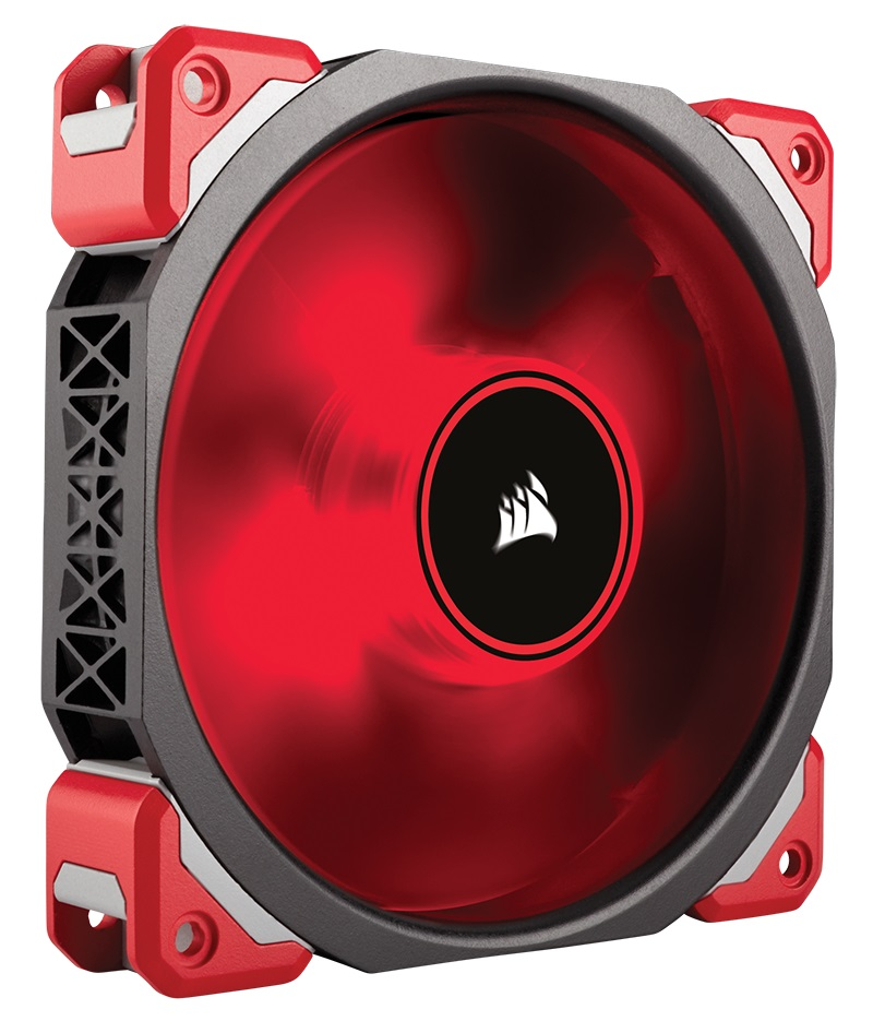 Corsair ML120 PRO LED, Red, 120mm Magnetic Levitation bearing Ca