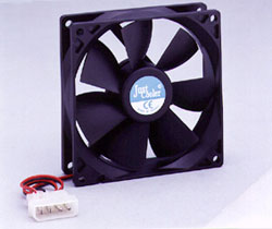 8cm Temperature Controlled Ball Bearing Case Fan 3 wire