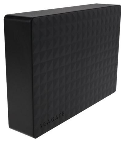 "SEAGATE Expansion Desktop 3.5"" 4TB Black External Hard Drive."