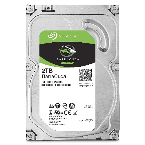 Seagate Barracuda 2TB - SATA3 6Gb/s - 7200RPM - 32MB Cache - 1 Y