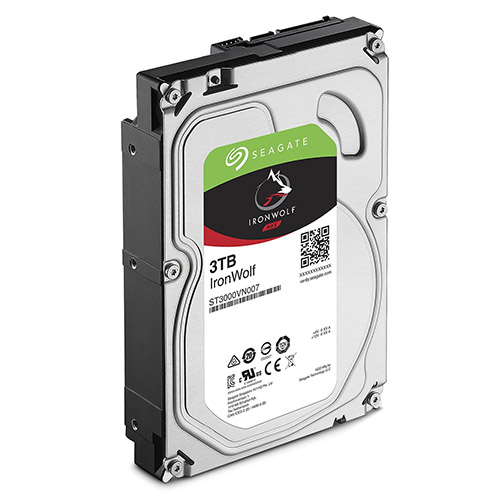 "Seagate 3TB 3.5"" IronWolf NAS 5900RPM SATA3 6Gb/s 64MB HDD. 3 Years Warranty"