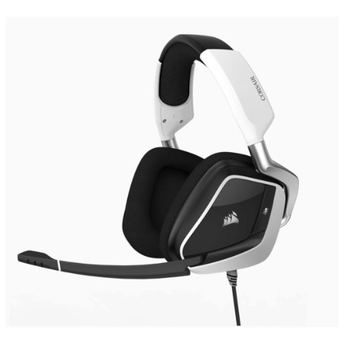 Corsair VOID PRO WHITE RGB USB wired Premium Gaming Headset with