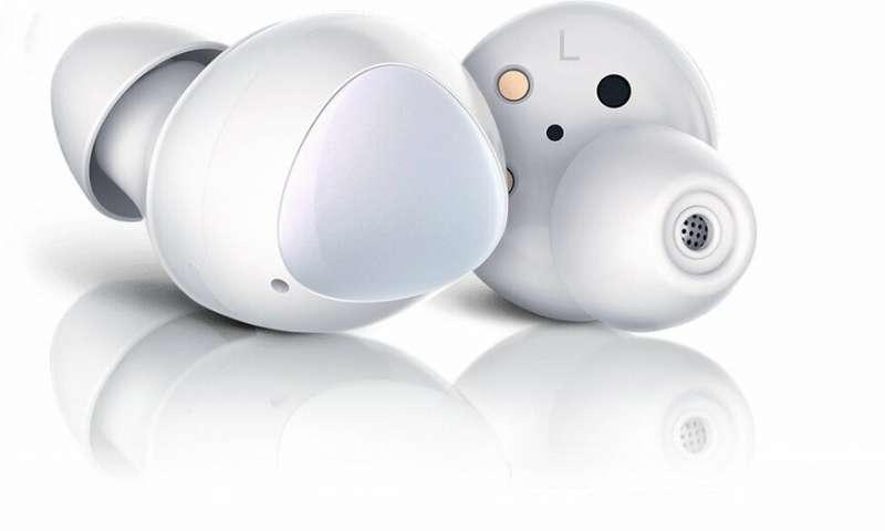 Samsung Galaxy Earbuds White SM-R170 - Android 5.0 or later and 1.5 or more, Water Resistant- IPX2 (Splash), Bluetooth v5.0