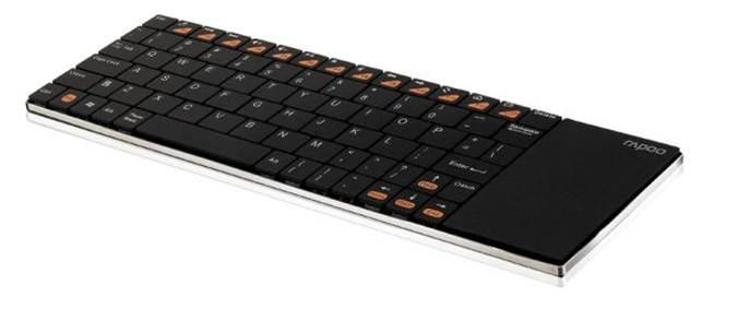 RAPOO e2700 Wireless Keyboard with Touchpad - Black