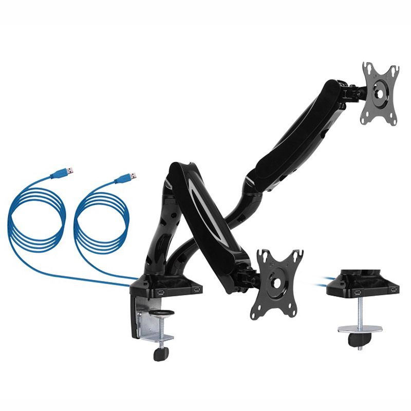 Brateck Dual Monitor Counterbalance LCD VESA Desk Clamp and Grom