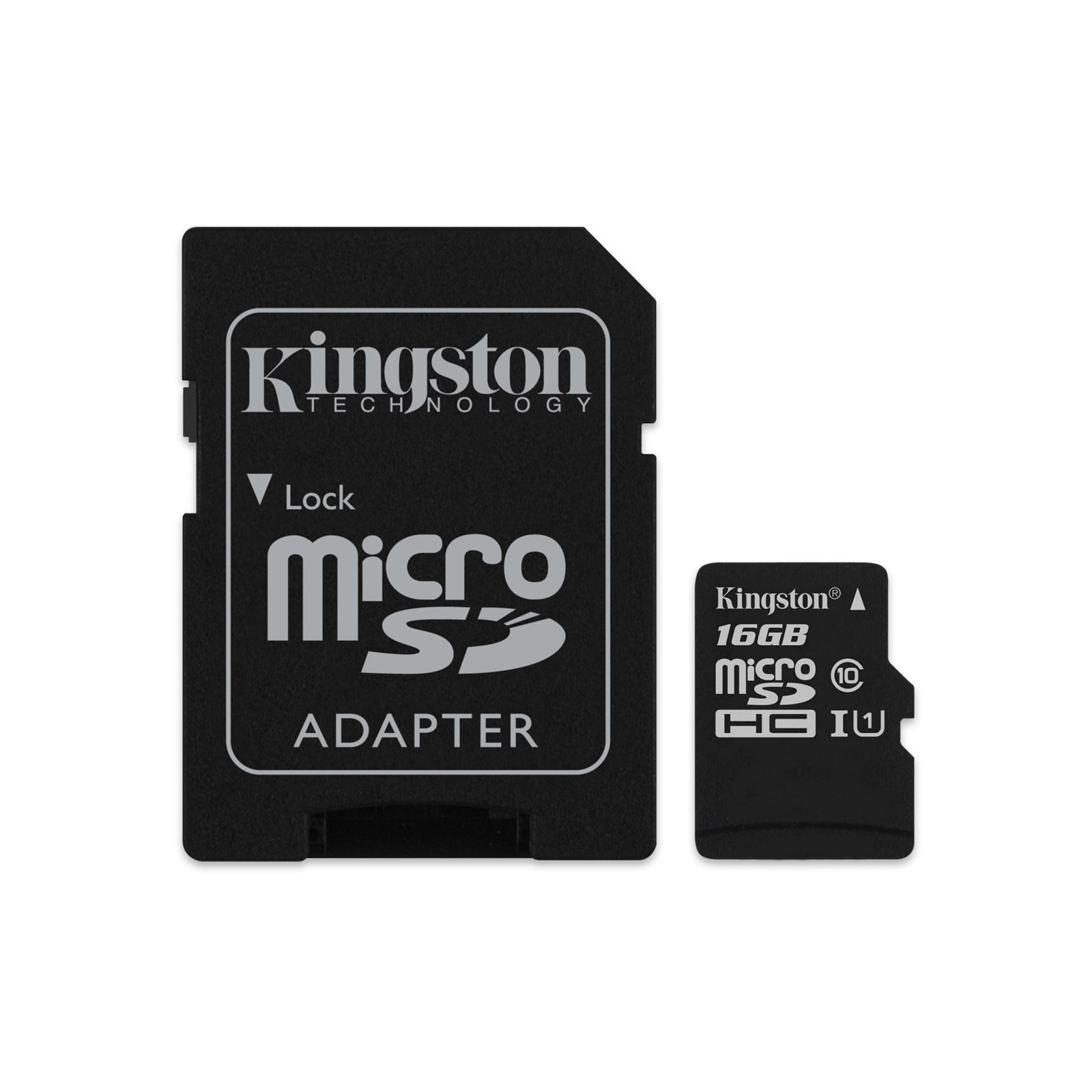 KINGSTON 16 GB Micro SDHC Memory Card with Adaptor