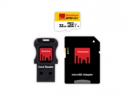 Strontium 8GB MicroSDHC Card with SD adapter