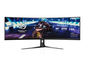 "ASUS ROG Strix XG49VQ 49"" Super Ultra-Wide HDR Gaming Monitor, 3"