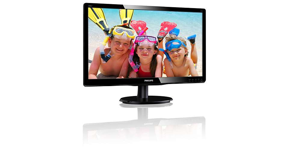 Philips 200V4QSBR 19.5inch MVA LED Full HD 1920 x 1080