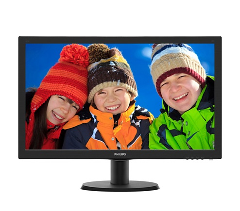 "Philips 243V5QHABA 23.6"" Widescreen MVA LED w/ Speakers Black 19"