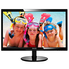 "Philips 246V5LHAB 24"" Widescreen LED MONITOR w/ Speakers, Gloss"