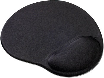 Kidney shaped mousepad with wrist cushion