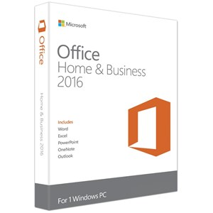 MICROSOFT Office 2016 Home & Business Medialess (No DVD)