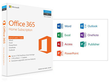 MICROSOFT Office 365 Home - 32-bit/x64 English P4 - 1YR Subscrip