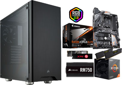 PERFORMANCE PC, AM4 CPU, 16GB RAM, 512GB M2 SSD, 2TB SATA, Windows 10 Home