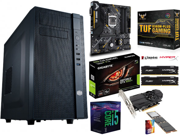 GAMING PC, 8th Gen Core-i5 CPU, 16GB Gaming RAM, 256GB M2 SSD, G