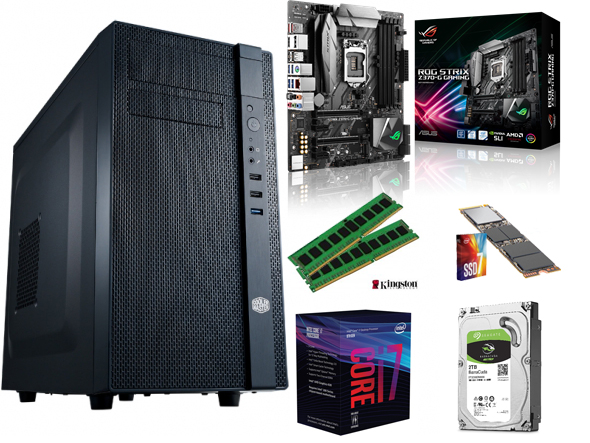 PERFORMANCE PC, 8th Gen Core-i7 CPU, 16GB RAM, 256GB M2 SSD, 2TB