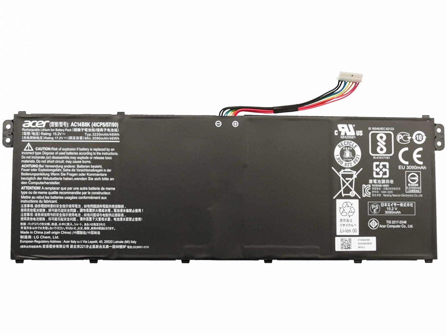 Acer KT.0040G.006 Alternative to KT.00403.041 SP513-51 15.2V 46W