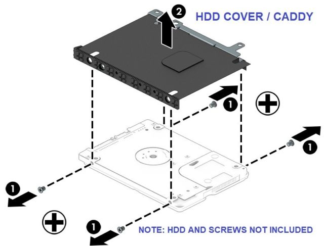 "Internal 2.5"" Caddie for HP Notebook 8th Gen"