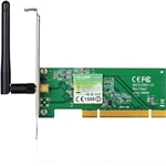 TP-LINK 150Mbps Wireless PCI Adapter, Atheros Chipset, 2.4GHz, 8