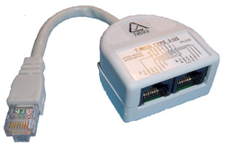RJ45 Duplex Adaptor with Cable