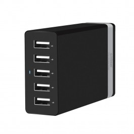 "MBEAT ""QUINTARY"" 5 Port 40W USB Smart Charger - Black"