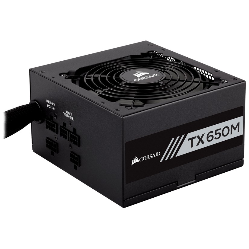 Corsair 650W TXM 80+ Gold Semi-Modular 120mm FAN ATX PSU 7 Years