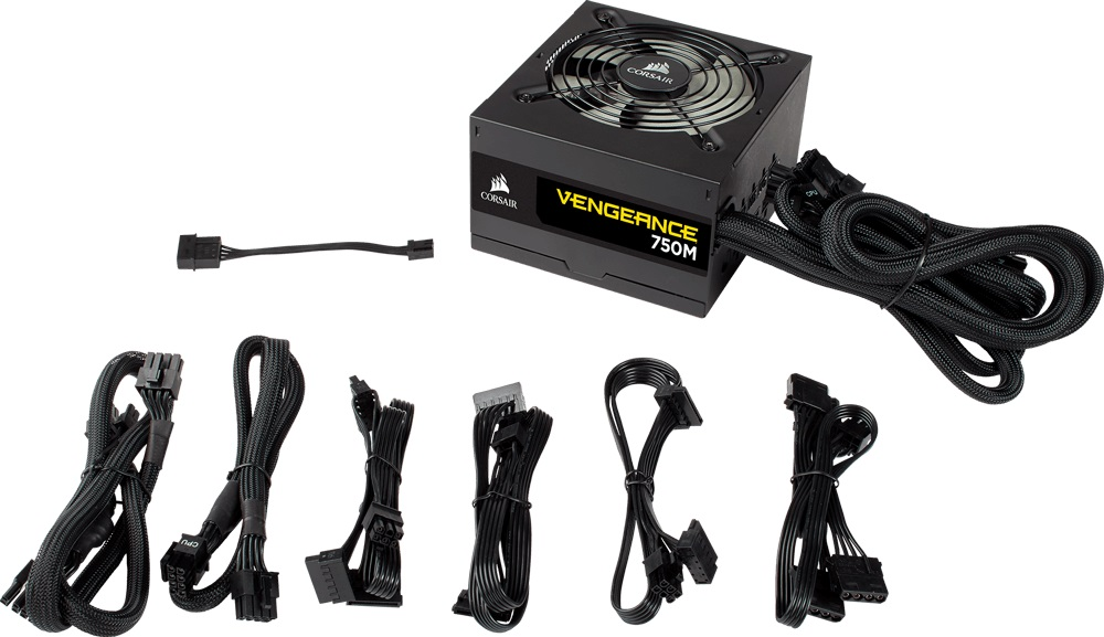 Corsair Vengeance 750W CX 80+ Silver Semi-Modular120mm FAN Black