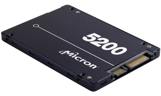 Micron 5200 Eco 480GB SSD 1DWPD 3D TLC NAND read/write speed 540/385 MB/s 81K/33K IOPS 7mm Server Data Centre, 5-year warranty