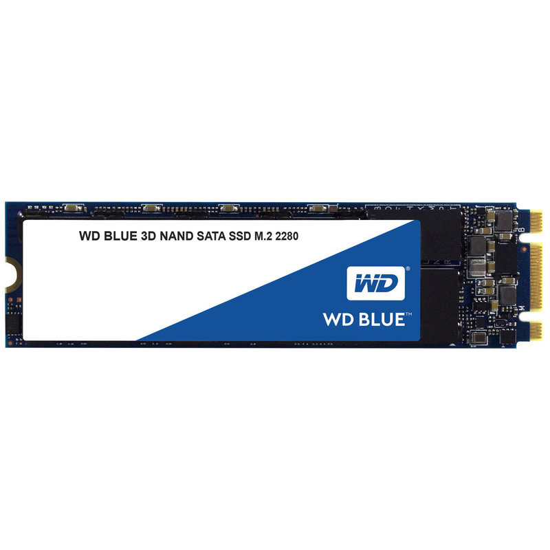 WD Blue 3D NAND SSD, M2 2280 form factor, 500GB, Read 560MB/s, W