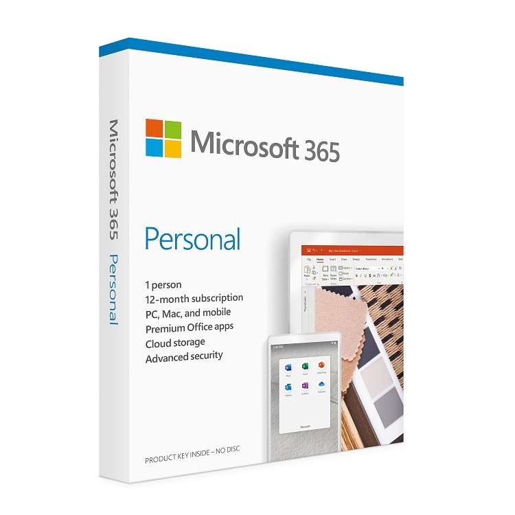 MICROSOFT Office 365 Personal - 1YR Subscription License - DM Medialess (1 User - 1 Lisc)