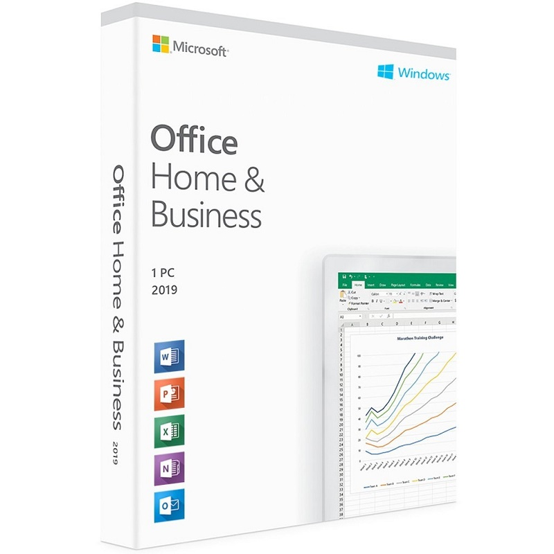 Microsoft Office Home and Business 2019 Medialess - 1 User for PC & Mac. Product Key Card